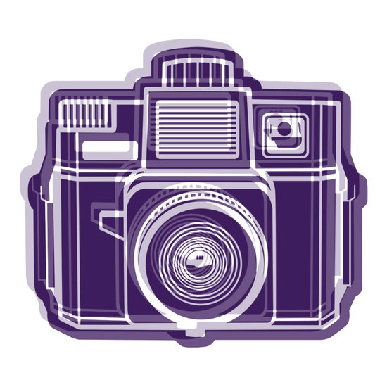 I Still Shoot Film Holga Logo - Deep Purple Canvas Print