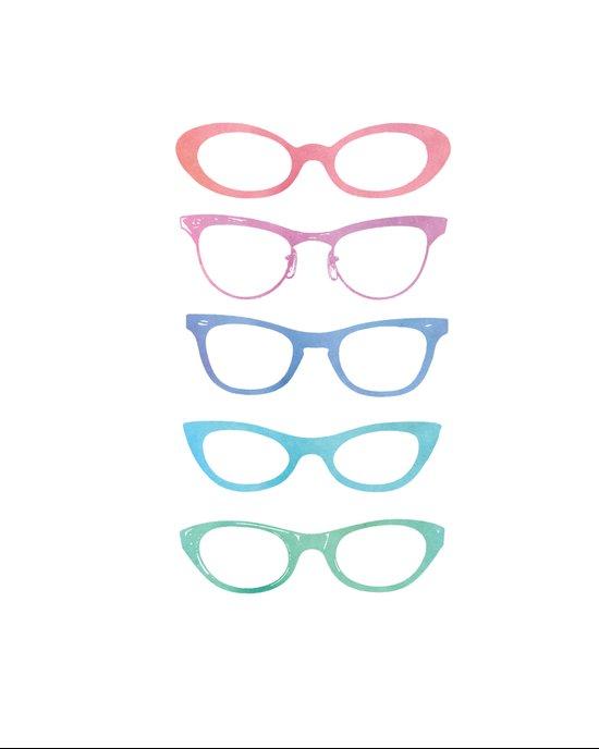 Colorful Vintage Sunglasses Art Print