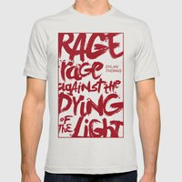 Rage Against the Dying of the Light 2 Mens Fitted Tee Silver SMALL