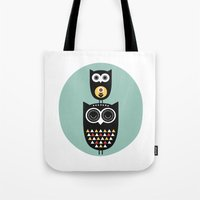 Owl décor - modern nursery art - geometric pattern Tote Bag