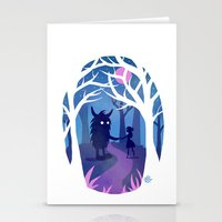 Making Friends with Monsters Stationery Cards