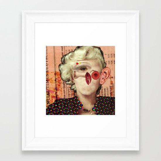 Mix Marilyn Collage 4 Framed Art Print