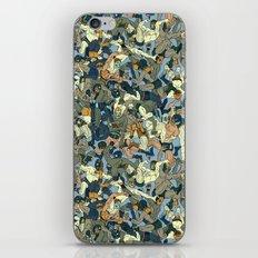 Lucha Pattern(blue&orange) iPhone & iPod Skin
