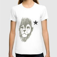 Punkster Lion *remade Fo… Womens Fitted Tee White SMALL