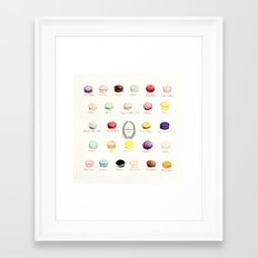 laduree macaron menu  Framed Art Print