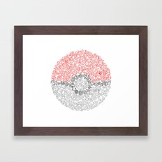 150 Pokemon Framed Art Print