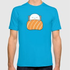 sleepy sushi Mens Fitted Tee Teal SMALL