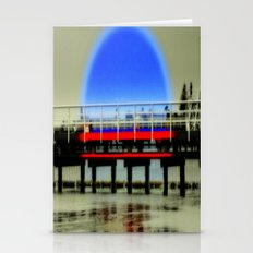 Red Pier- Blue Moon Stationery Cards