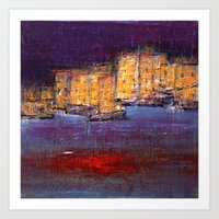 Town By The Sea Art Print