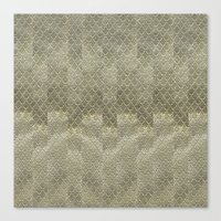 Golden embroidery Canvas Print
