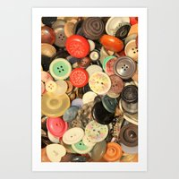 Push My Buttons Art Print