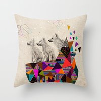 The Night Playground by Peter Striffolino and Kris Tate Throw Pillow
