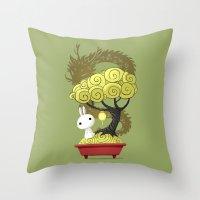 Bonsai Bunny Throw Pillow