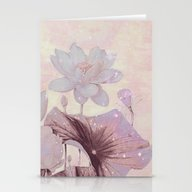 Pastel Waterlily Stationery Cards