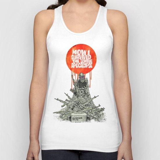 How I Survived The Zombie Apocalypse (colour option) Unisex Tank Top