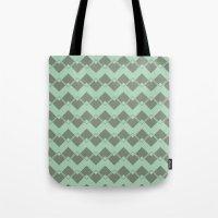 Mint Geometric Art Deco … Tote Bag