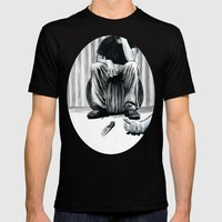 One Imbecile Less Mens Fitted Tee Black SMALL