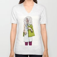 Fashion Illustration - Patterns and Prints - Part 2 Unisex V-Neck