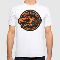 Black Chocobo Riders Clu… Mens Fitted Tee Ash Grey SMALL