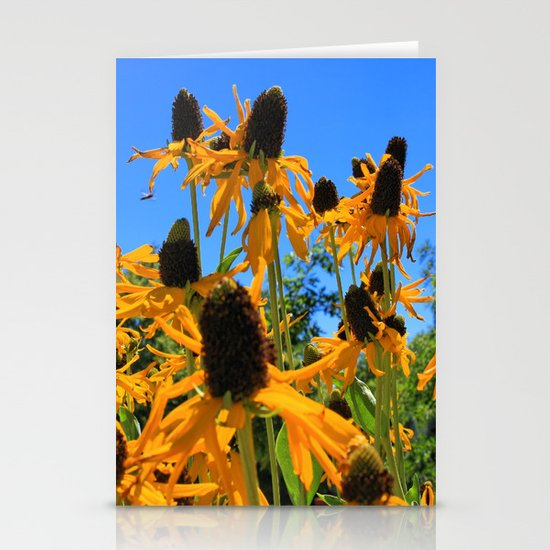 Yellow Flowers Stationery Card