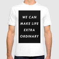 Extraordinary I Mens Fitted Tee White SMALL