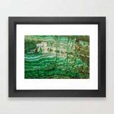 MINERAL BEAUTY - MALACHITE Framed Art Print