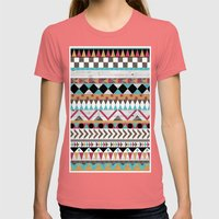 Age Of The Aztec Womens Fitted Tee Pomegranate SMALL