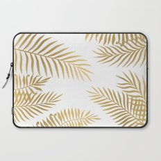 Gold palm leaves Laptop Sleeve