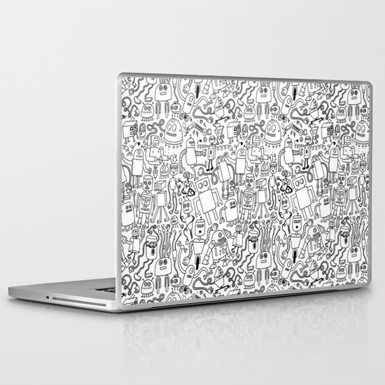 Infinity Robots Black & White Laptop & iPad Skin