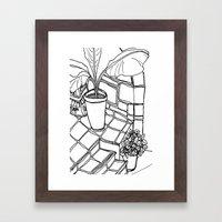 in greece we love Framed Art Print