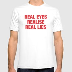 Real SMALL Mens Fitted Tee White
