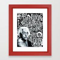 Einstein.  Framed Art Print