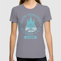 Bad Boy Club: Snow Monsters, Wizards Only Womens Fitted Tee Slate SMALL
