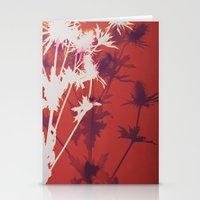 Photogram - Seaholly in Red Stationery Cards