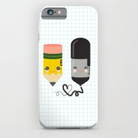 iPhone & iPod Case featuring Pencil and Sharpie Buds by Steph Dillon