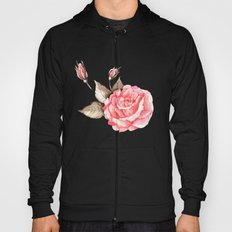 Watercolor rose Hoody