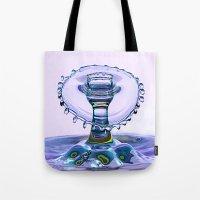 Water Crown Tote Bag