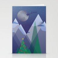 Christmas Night Alpine F… Stationery Cards