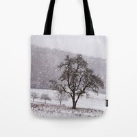 Old Pear Tree On A Winte… Tote Bag