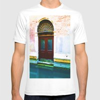 Front Lawn Mens Fitted Tee White SMALL