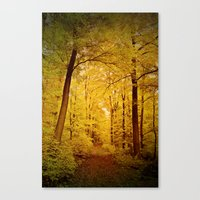 Yellow Gown Canvas Print