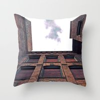Historic view up Throw Pillow