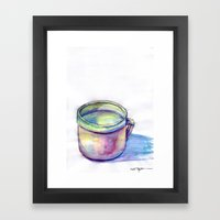 Pink Cup Framed Art Print