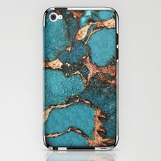 AQUA & GOLD GEMSTONE iPhone & iPod Skin