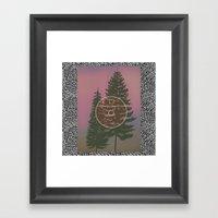 One E. Round Framed Art Print