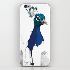 Peacock Head iPhone & iPod Skin