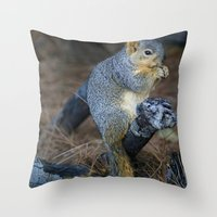 Mr. Squirrel! Throw Pillow