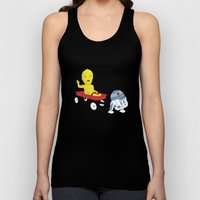 SW Kids - C3PO & R2D2 Red Wagon Unisex Tank Top
