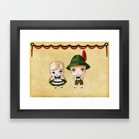 German Chibis Framed Art Print