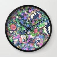 Flower Explosion Wall Clock
